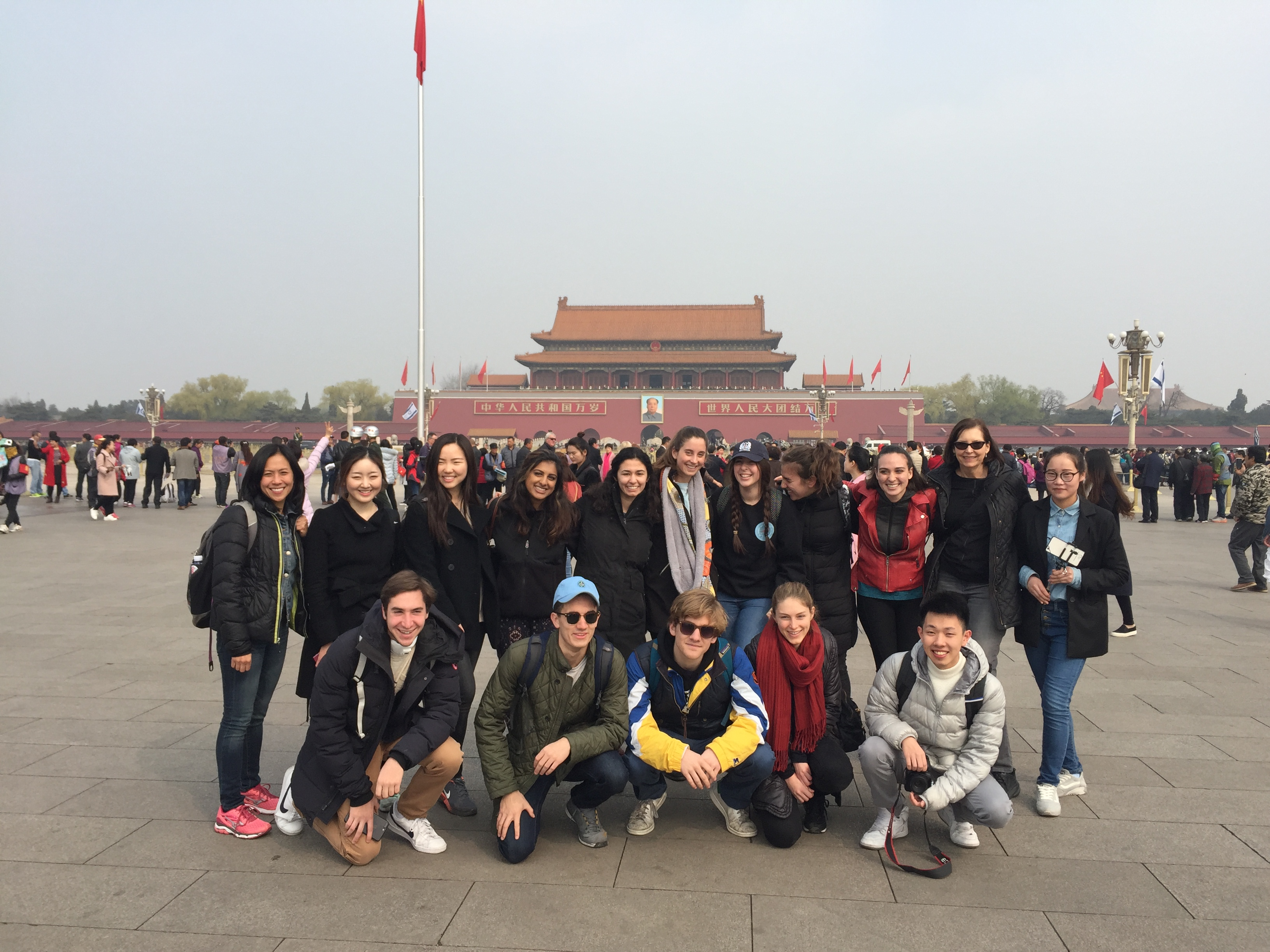 Medill students in China