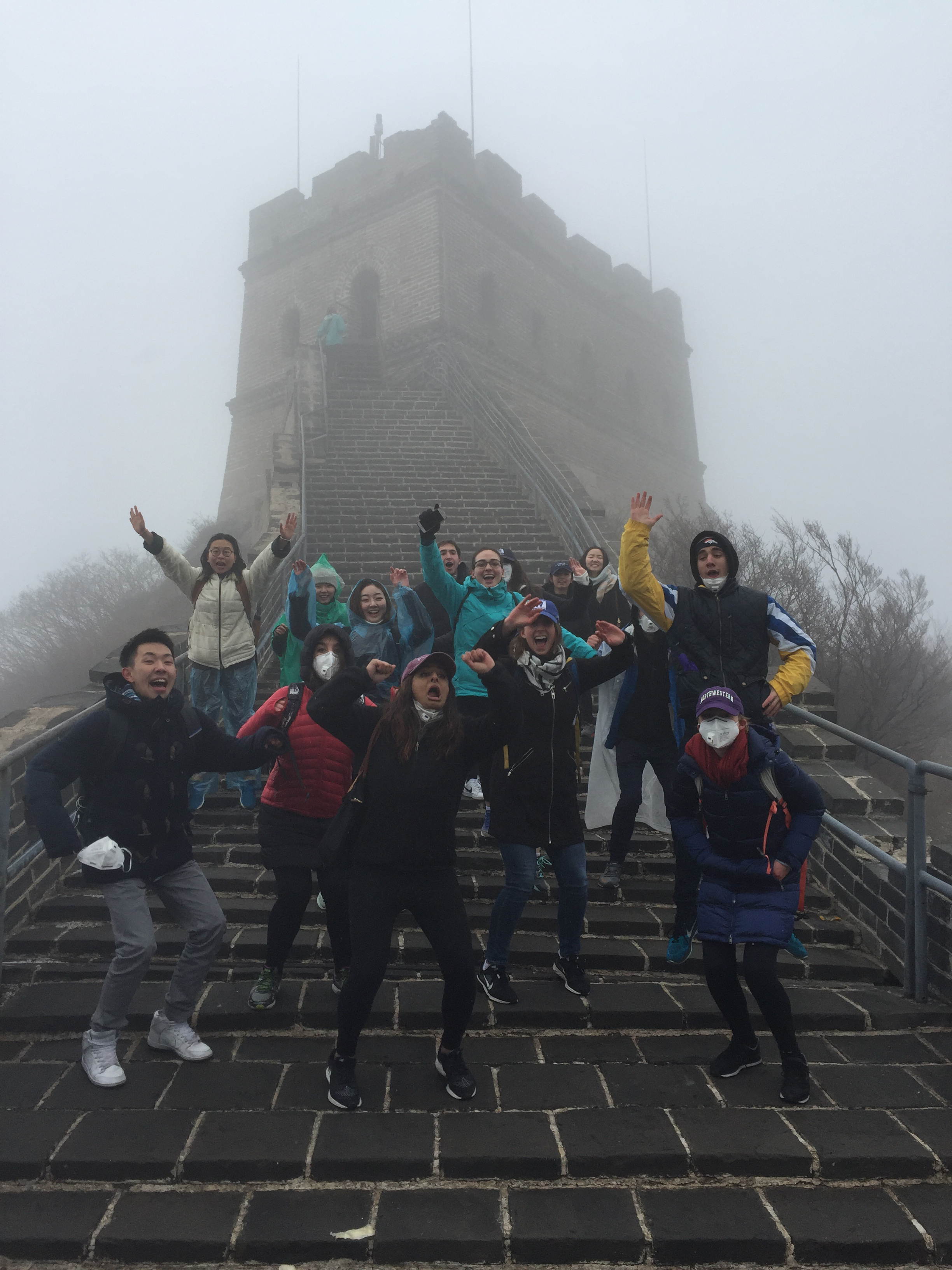 Medill students at the Great Wall of China