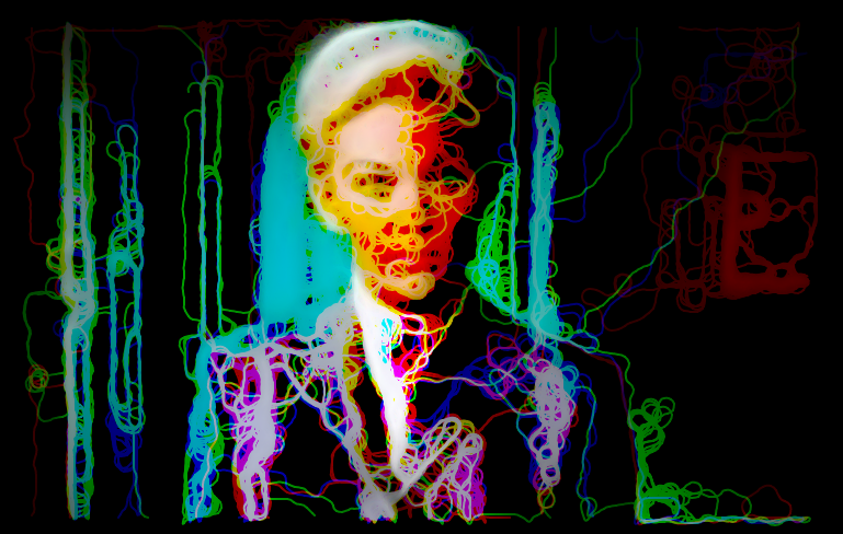Glitch example by Luke Holey created to examine the multiple dimensions of the female protagonist in Vertigo.*