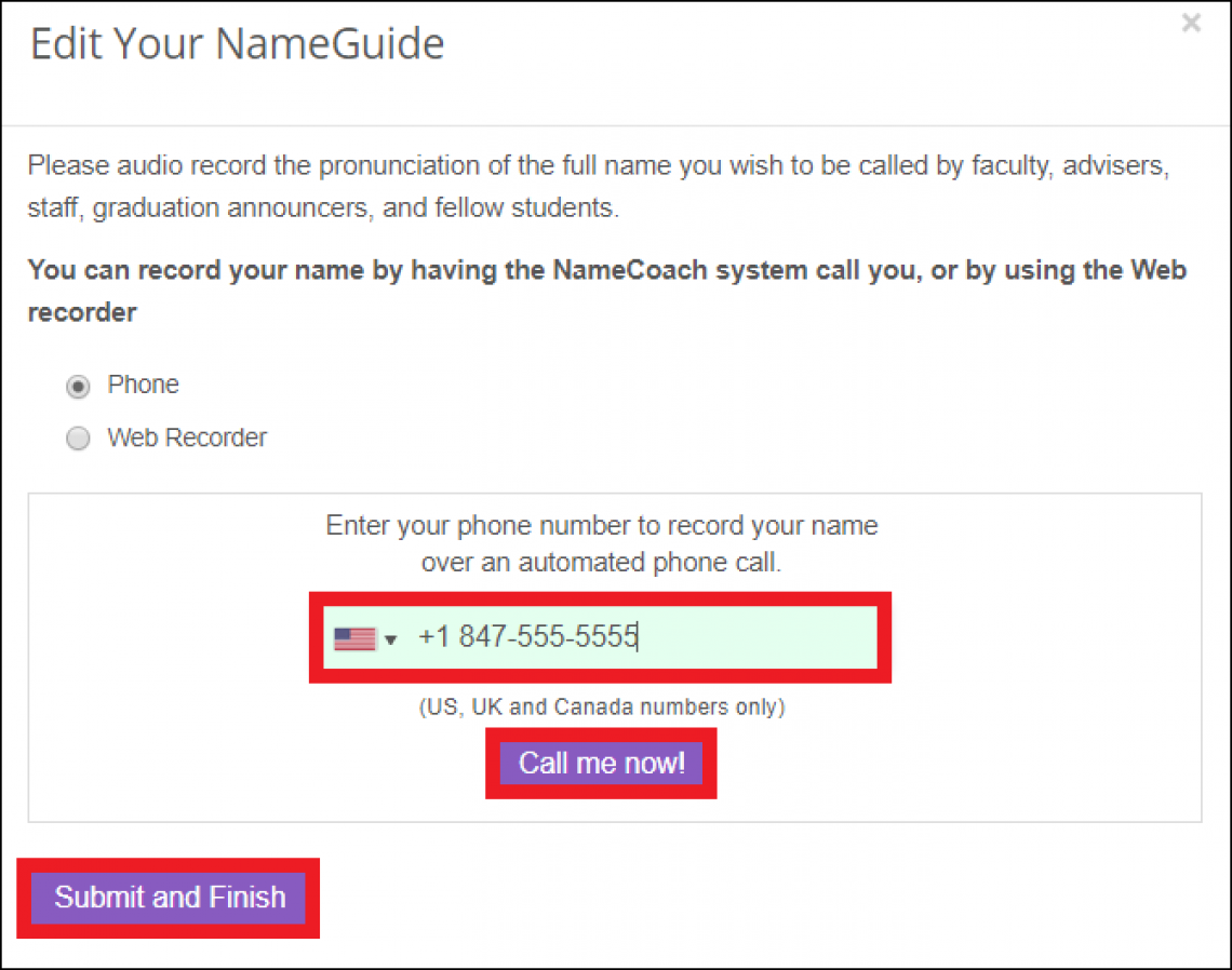 NameCoach call