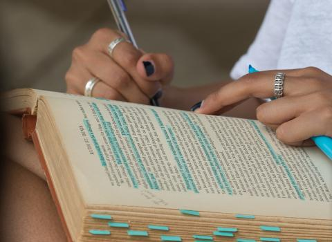Highlighting a book