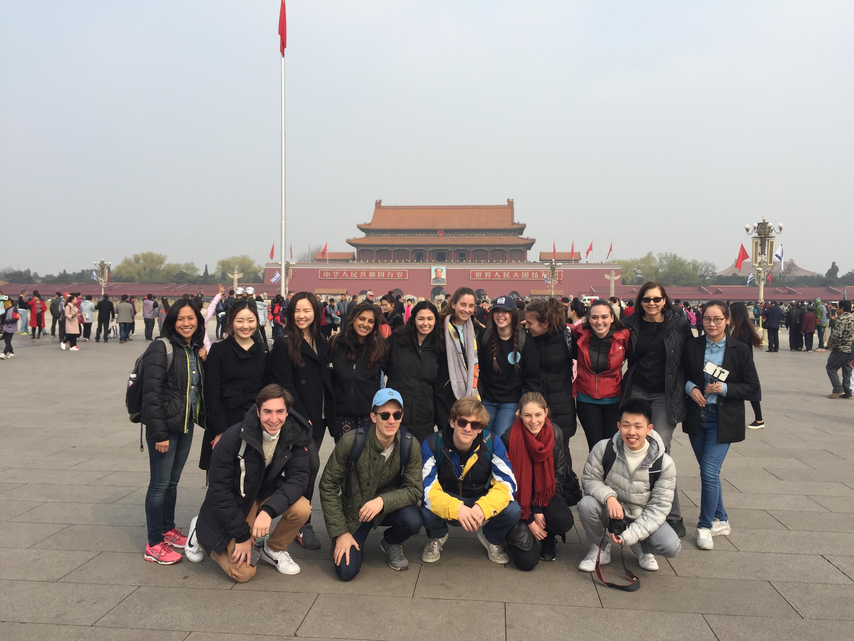 Medill students in China