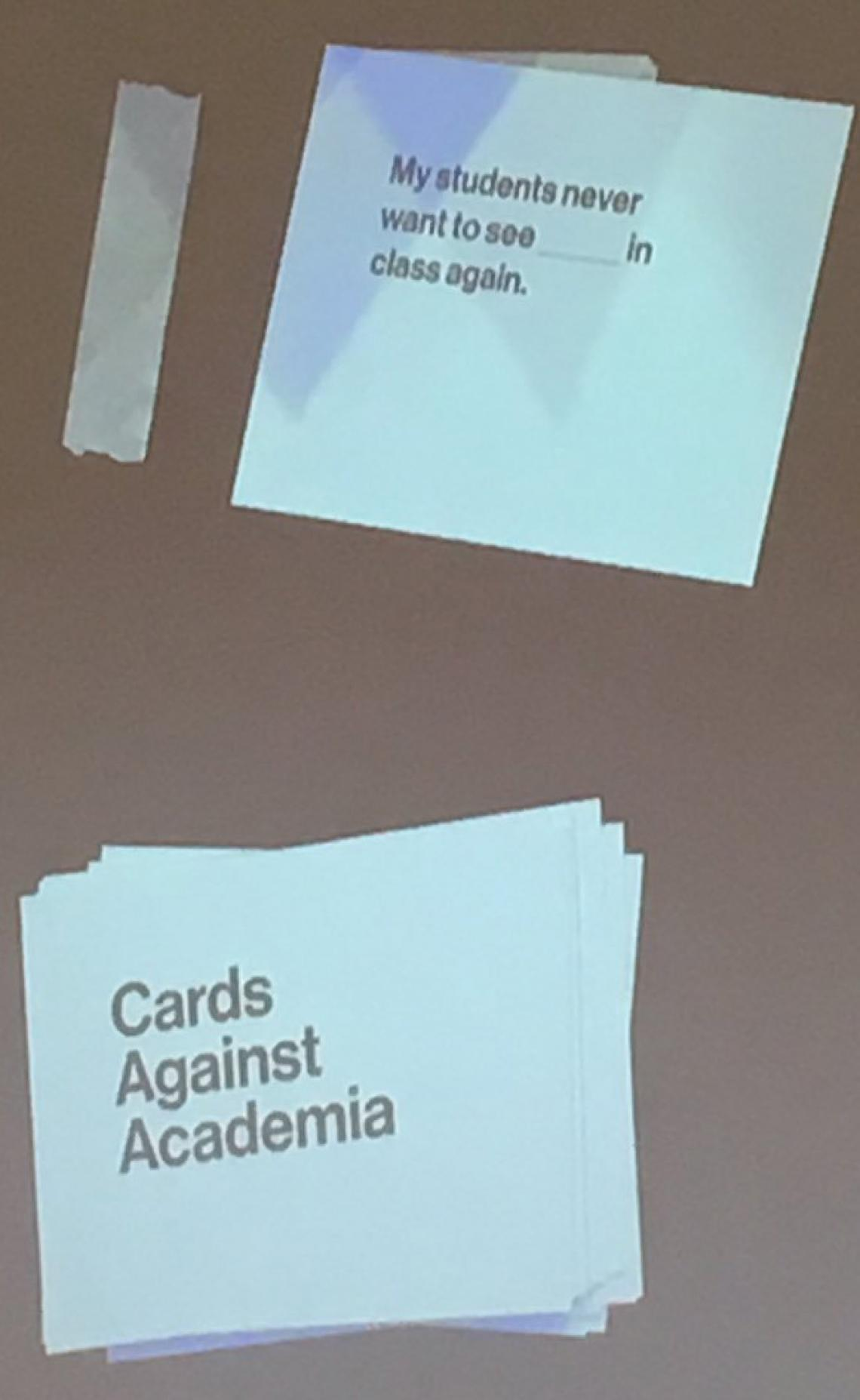Cards Against Academia