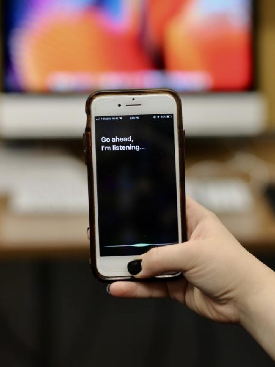Using Apple's Siri for voice commands