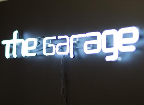 Signage at the Garage