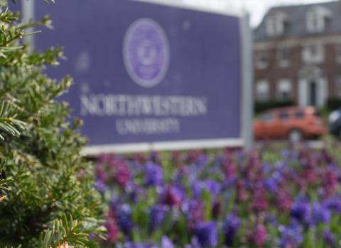 Northwestern sign