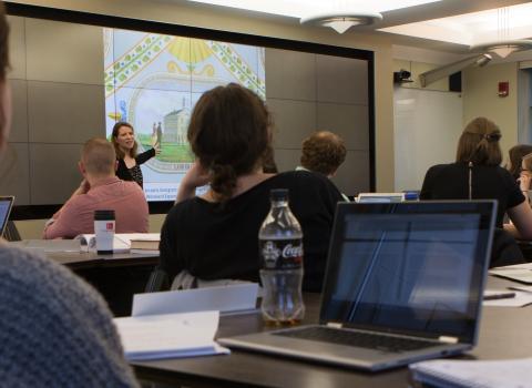 Susie Calkins teaching