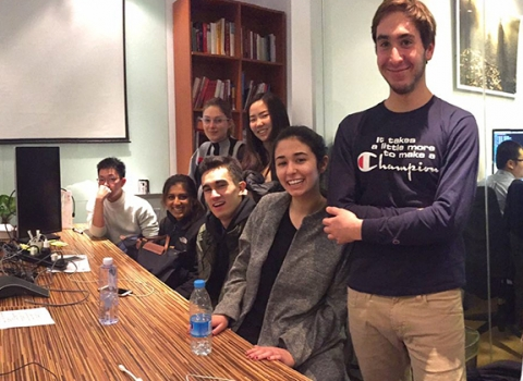 Mei-Ling Hopgood and students at the New York Times