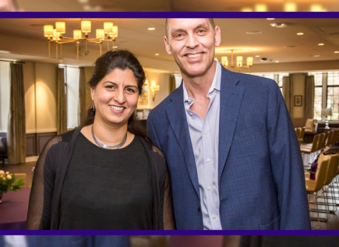 Nitasha Sharma and Lane Fenrich were recognized with 2018 Daniel I. Linzer Awards for Faculty Excellence in Diversity and Equity.