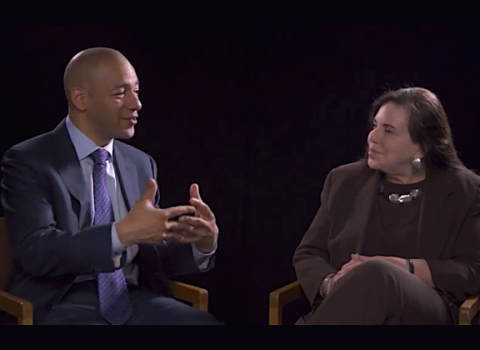 Candy Lee interviews former ESPN panelist and director of sports journalism at Medill, J. A. Adande